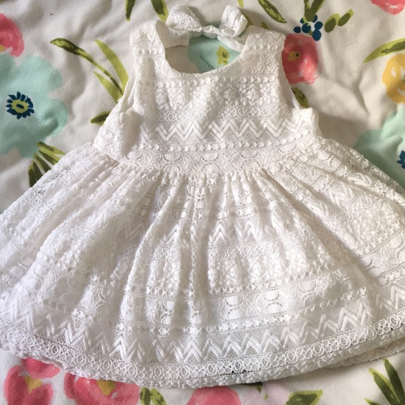 The Children's Place Other - White Lace Dress